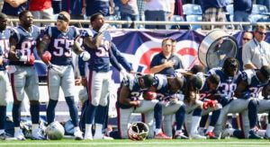 Patriots Players Kneeling for Anthem